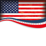 4th July US-Flag Design Royalty Free Stock Photo