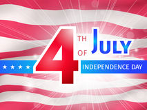 4th of July, US Independence Day poster Stock Photo