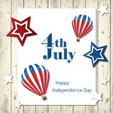 4th of July with USA flag, Independence Day Banner. Illustration Stock Image