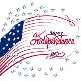 4th of July with USA flag, Independence Day Banner Vector illustration. Print posters, flyers, advertising royalty free stock image
