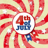 4th of July Independence Day abstract poster. 4th of July USA Independence Day abstract poster stock illustration