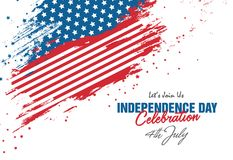 4th July Celebration with Abstract Style USA Flag Background. 4th July USA Independence Day Celebration Background with Abstract USA Flag royalty free illustration
