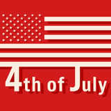 4th of July - USA Independence Day. Design for greeting cards, holiday banners, cover broshures and flyers. Vector illustration Royalty Free Stock Photography