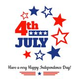 USA independence day greeting card. 4th of july USA independence day greeting card Royalty Free Stock Photos