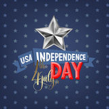 4th july USA independence day greeting card. Banner design, vector illustration Stock Photography