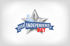 4th july USA independence day greeting card. Banner design, vector illustration Stock Images