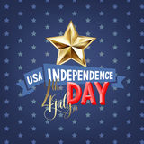 4th july USA independence day greeting card. Banner design, vector illustration Royalty Free Stock Photography