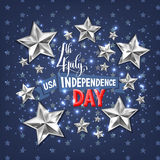 4th july USA independence day greeting card. Banner design, vector illustration Royalty Free Stock Photos