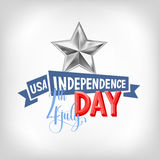 4th july USA independence day greeting card Royalty Free Stock Photos