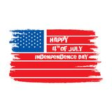 Happy independence day of USA. 4th of july USA independence day greeting card, national flag design Royalty Free Stock Photo