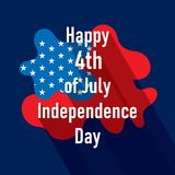 Happy independence day of USA. 4th of july USA independence day greeting card, national flag design Royalty Free Stock Photos