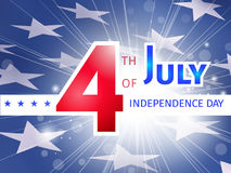 4th of July,  USA Independence Day - greeting poster Stock Images