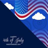 4th of July USA Independence Day. Illustration of Fourth of July. 4th of July holiday banner. USA Independence Day banner Vector Illustration
