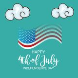 4th of July USA Independence Day. Illustration of Fourth of July. 4th of July holiday banner. USA Independence Day banner royalty free illustration