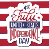 4th of July. USA independence day. Vector elements for invitations, posters, greeting cards. T-shirt design Royalty Free Stock Images