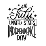 4th of July. USA independence day. Vector elements for invitations, posters, greeting cards. T-shirt design Stock Photos