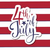 4th of July. USA independence day. Vector elements for invitations, posters, greeting cards. T-shirt design Stock Images