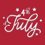 4th of July. USA independence day. Vector elements for invitations, posters, greeting cards. T-shirt design Royalty Free Stock Image