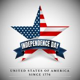 4 th july usa star, independence day. Vector illustration.  stock illustration