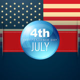 4th of july vector Stock Image