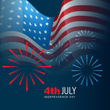 4th of july vector. 4th of july american independence day background Royalty Free Stock Images