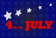 4th of july. Vector background of 4th of July American independance day stock illustration