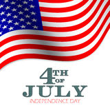 4th of July vector background. Stock Image