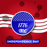 4th Of July Vector Illustration Royalty Free Stock Photo
