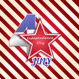 4th Of July Vector Illustration Royalty Free Stock Photography