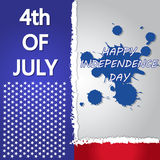 4th Of July Vector Illustration Royalty Free Stock Image
