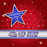 4th Of July Vector Illustration Royalty Free Stock Photos