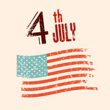 4 th July Vector Illustration Stock Image