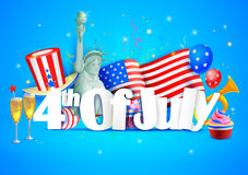 4th of July wallpaper background. Vector illustration of 4th of July wallpaper background Stock Photos