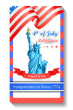 4th of July wallpaper background. Vector illustration of background for Fourth of July American Independence Day Royalty Free Stock Photography