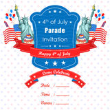 4th of July wallpaper background. Vector illustration of background for Fourth of July American Independence Day Stock Images