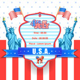 4th of July wallpaper background. Vector illustration of background for Fourth of July American Independence Day Royalty Free Stock Image