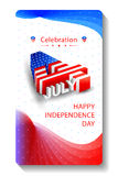4th of July wallpaper background. Vector illustration of background for Fourth of July American Independence Day Stock Photos