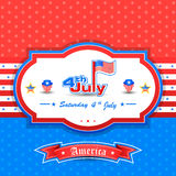 4th of July wallpaper background. Vector illustration of background for Fourth of July American Independence Day Royalty Free Stock Images