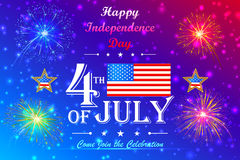 4th of July wallpaper background. Vector illustration of background for Fourth of July American Independence Day Royalty Free Stock Photos