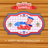 4th of July wallpaper background. Vector illustration of background for Fourth of July American Independence Day Stock Photography