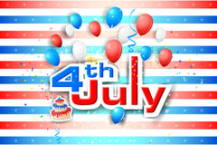 4th of July wallpaper background. Vector illustration of background for Fourth of July American Independence Day Stock Photo