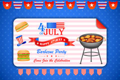 4th of July wallpaper background. Vector illustration of background for Fourth of July American Independence Day Barbecue party stock illustration