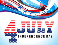 4th of july wave background. Vector illustration Stock Photos
