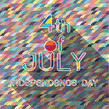 4th Julywith pattern background. 4th of july of american independence day with pattern background and shadow Stock Photos