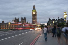 26th June 2015: London, UK, Big Ben or Great Clock Tower or Palace of West Minister or UK Parliament at night Royalty Free Stock Photo