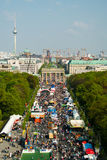 17th of June Street, and Brandenburg Gate Stock Photos