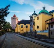 15th kavalleriregemente för monument i Poznan, Polen Arkivbilder