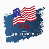 4th kort för Juli självständighetsdagenvektor Royaltyfri Fotografi