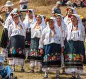 th krajowy festiwal Bułgarski folklor fotografia stock