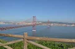 25th Kwietnia most, 25 De Abril Przerzucający most Zdjęcie Royalty Free